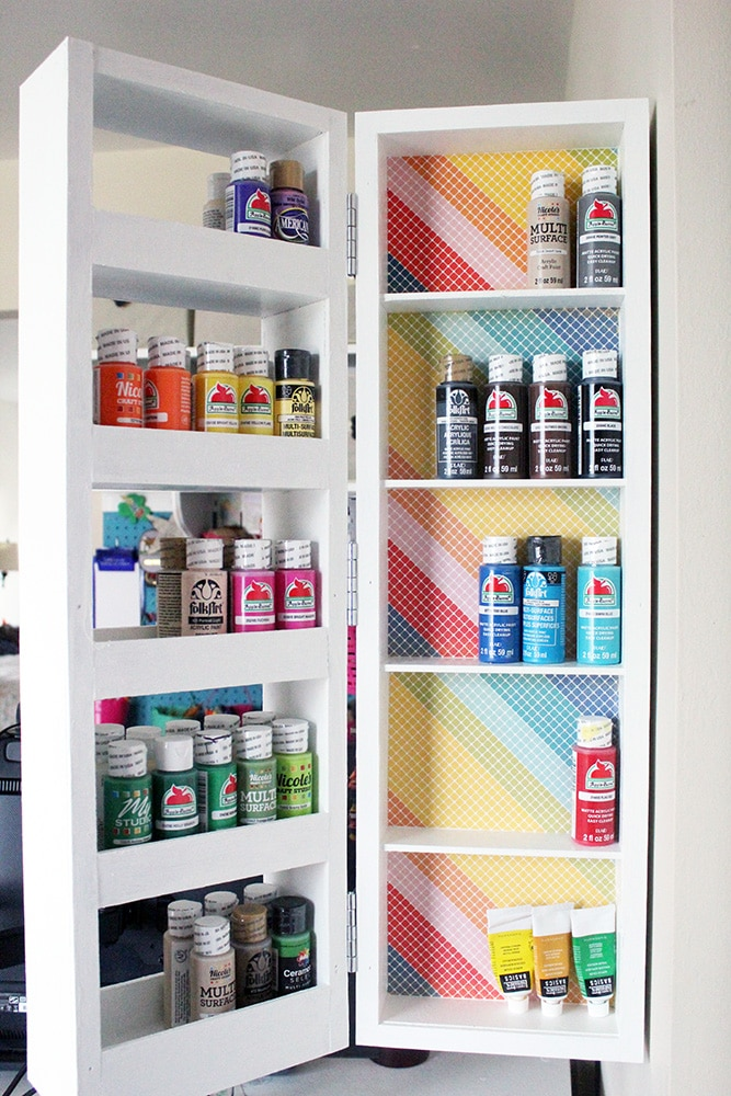 DIY Swing Out Wall Shelves