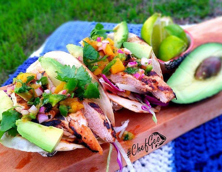 Chicken Mango Taco - HealthyFitCouple