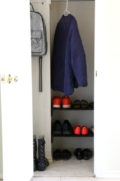 DIY Shoe Shelves for a Closet