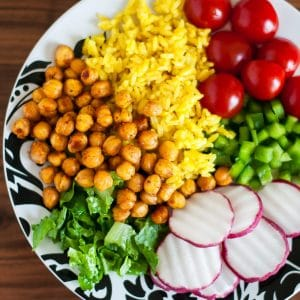 Roasted Chickpea Taco Salad Rice Bowls