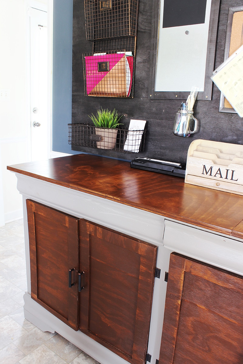 a bedroom dresser into a dining room buffet