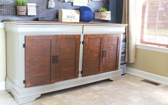 how I turned a dresser into a buffet