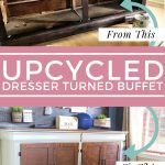 upcycled dresser turned buffet