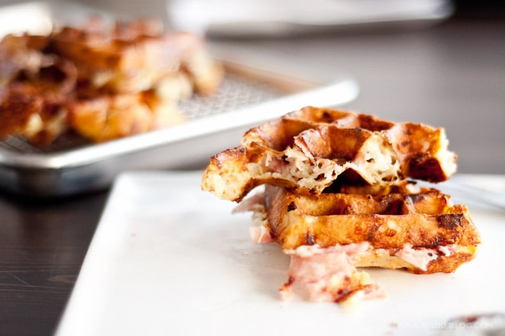 Ham and Cheese Waffle Recipe · i am a food blog