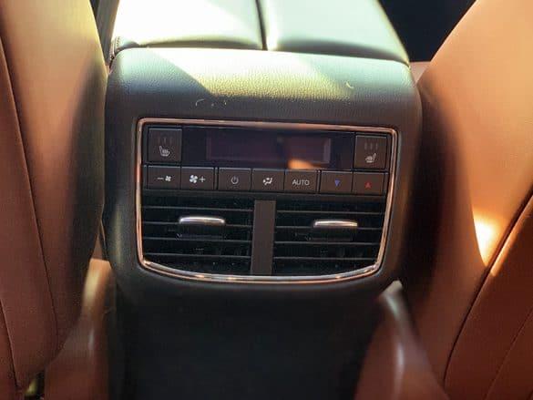 rear temperature controls in 2019 mazda cx9
