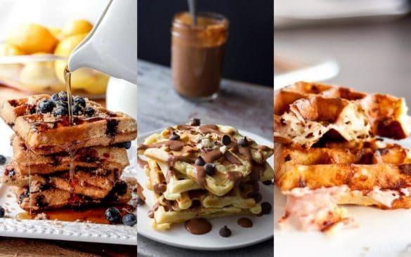 sweet waffle recipes and savory waffle recipes