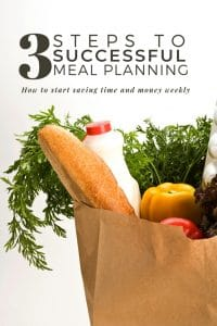 3 steps to successful meal planning