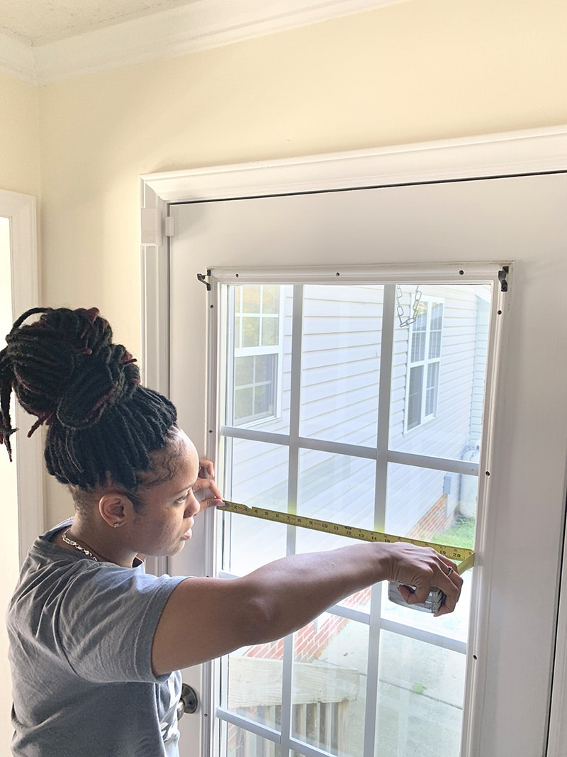 measuring the window before application