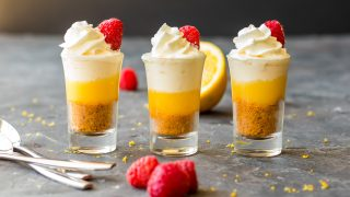 Mini No Bake Lemon Cheesecake