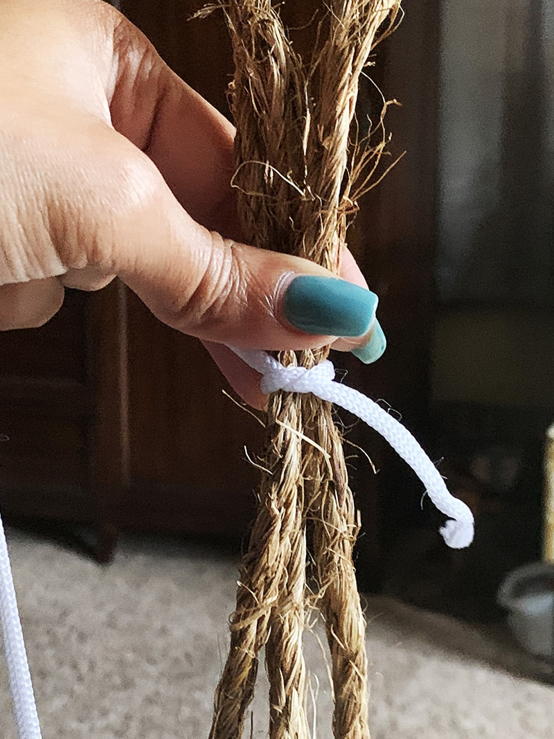 ropes for finishing hanging fern pots