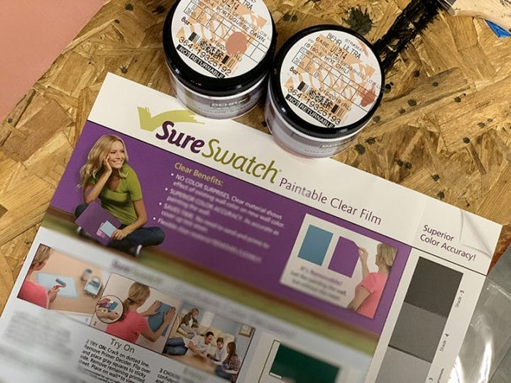 SureSwatch and Behr paint samples