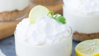 No Bake Lemon Cheesecake Jars