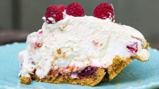 No-Bake Raspberry Fluff Pie