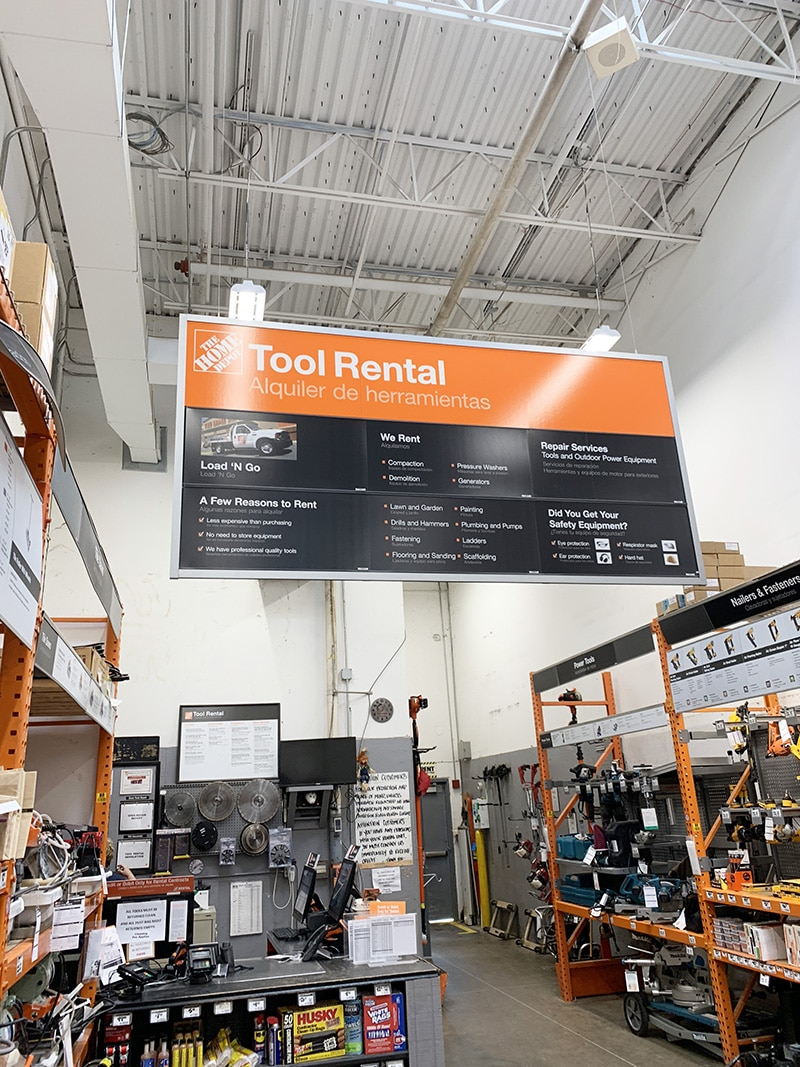 home depot tool rental policy