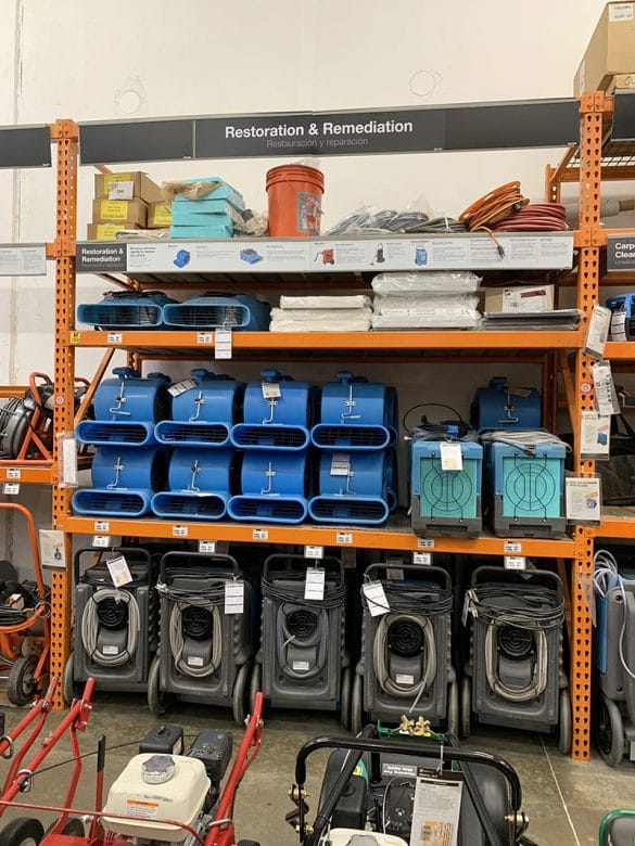tool rental section at home depot