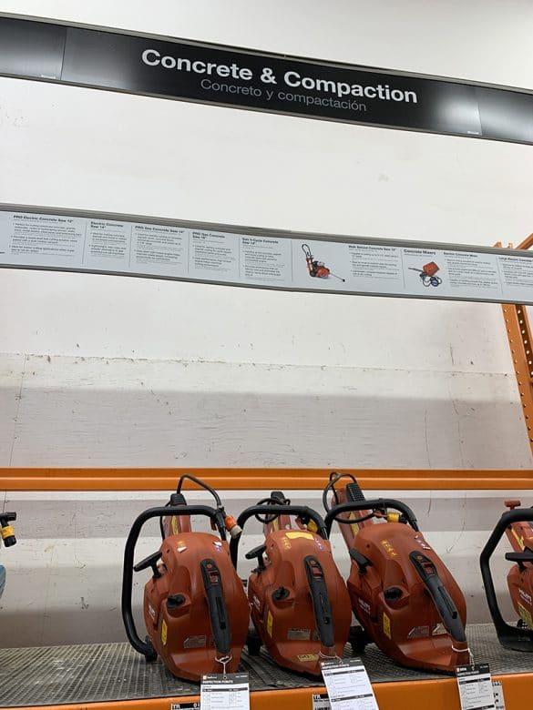 renting tools at home depot