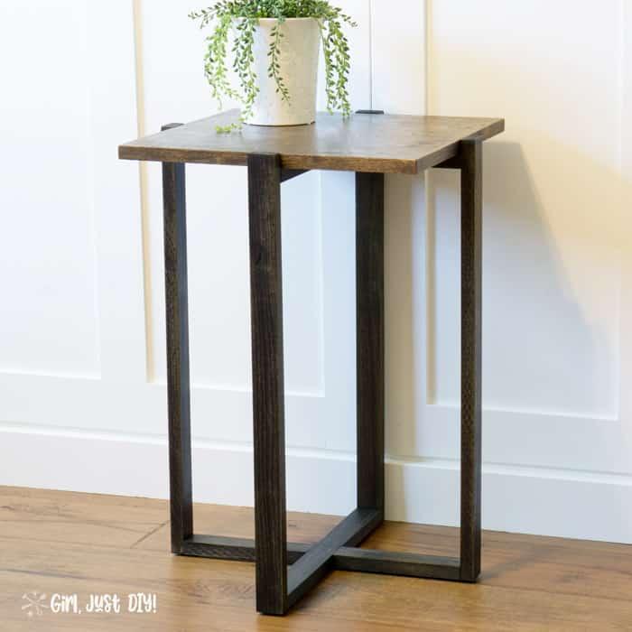 DIY Modern End Table