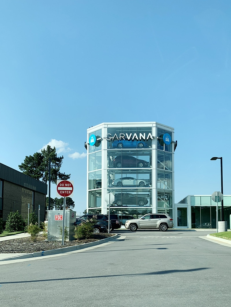 carvana vending machine raleigh nc
