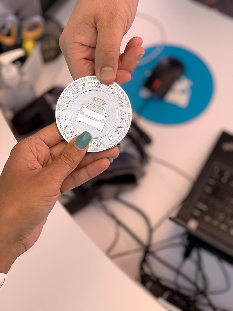 coin for the carvana vending machine
