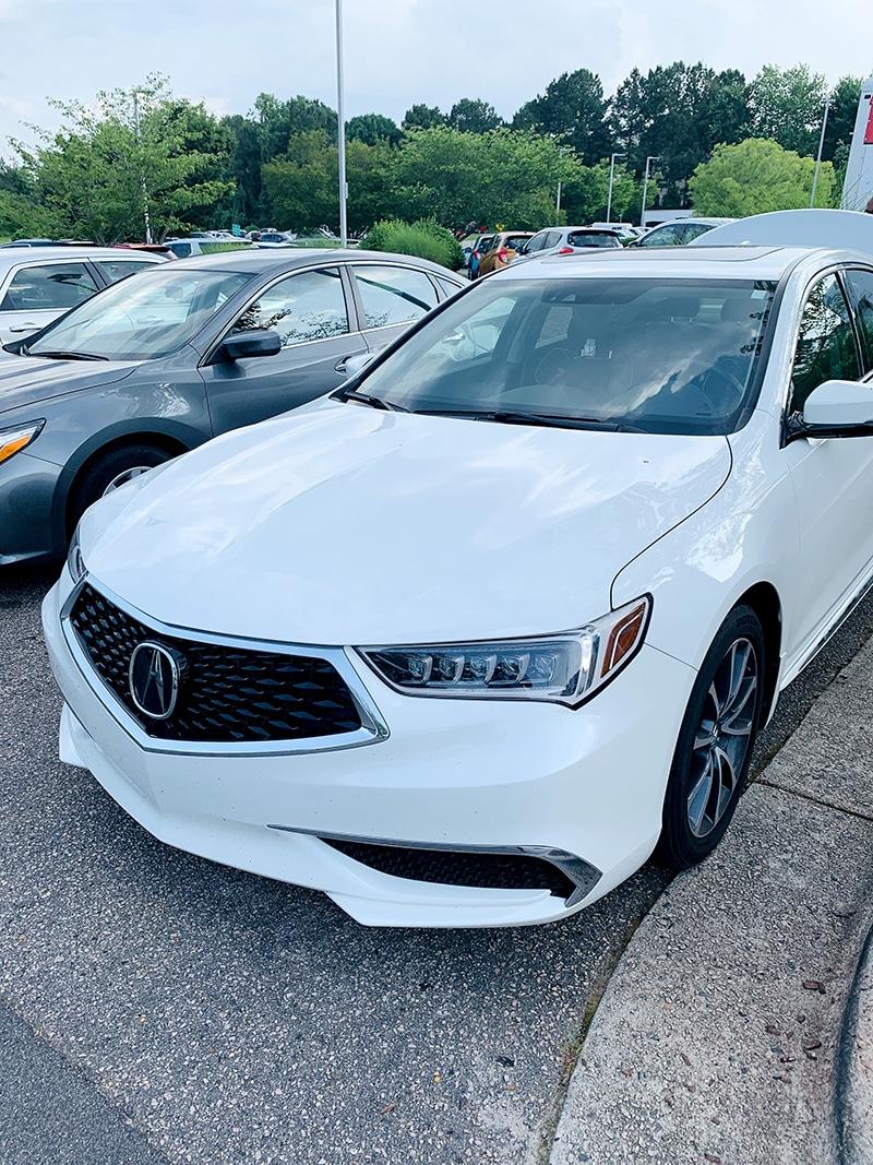 2018 white Acura TLX