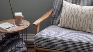 DIY Storage Basket Side Table