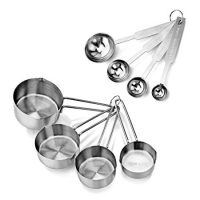 Stainless Steel Measuring Spoons and Cups