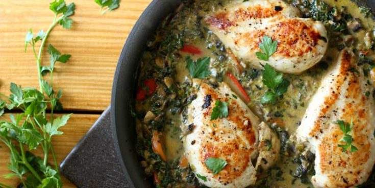 Smothered Creamy Skillet Chicken