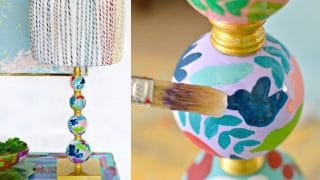 DIY Anthropologie Inspired Lamp Makeover