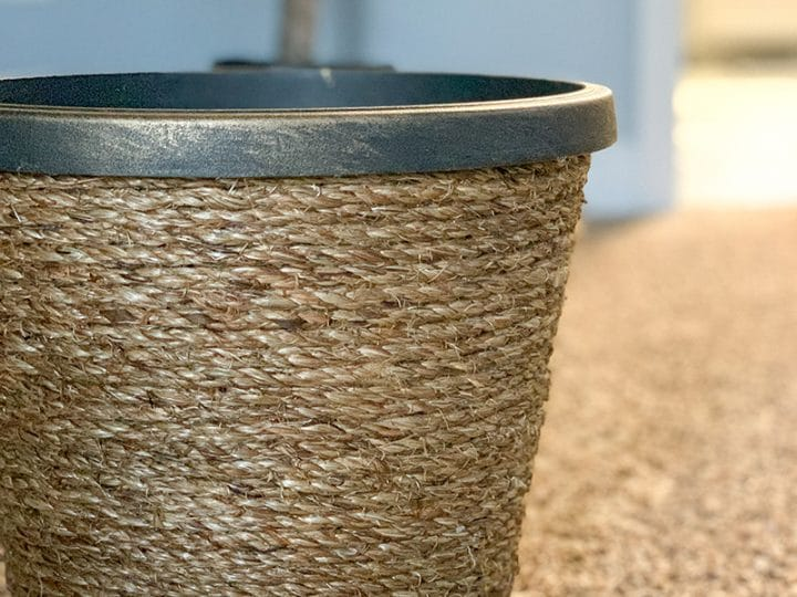 How To Make Your Own Basket Weave Planter