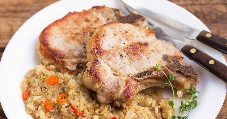 Easy Skillet Pork Chops with Quinoa