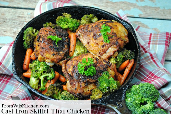 Cast Iron Skillet Thai Chicken