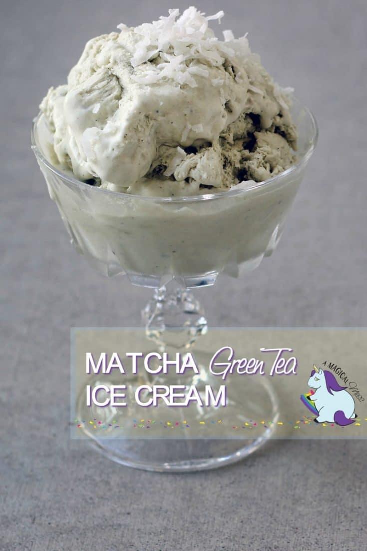 No Churn Green Tea Matcha Ice Cream Recipe