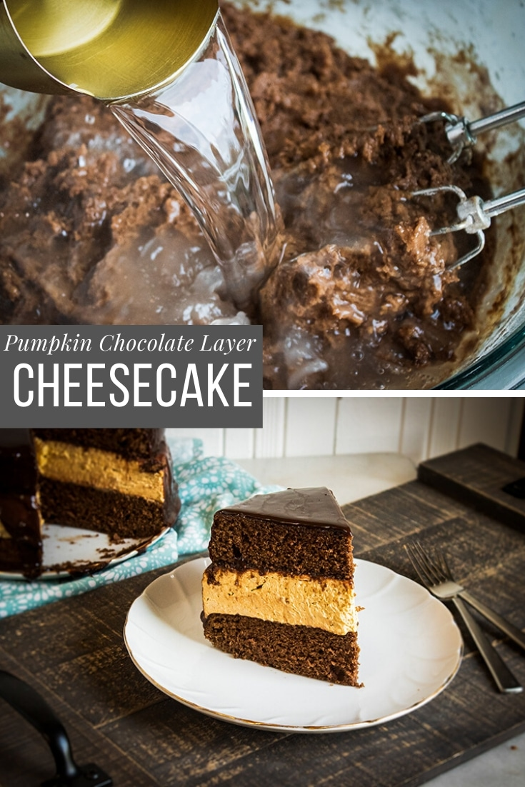 pumpking chocolate layer cheesecake