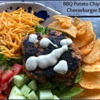 BBQ Potato Chip Turkey Cheeseburger Bowls