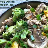 Ground Turkey Stir Fry with Cauliflower Rice