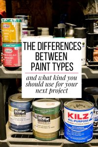 the differences between paint types