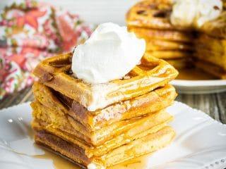 Homemade Pumpkin Waffles Recipe