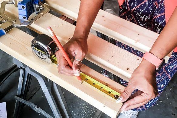 How To Make a Curtain Rod Shelf Combo