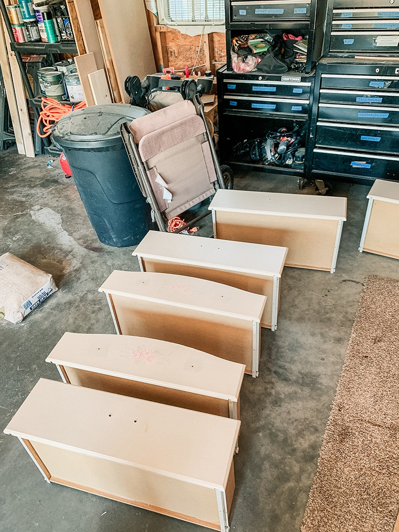 separate drawers for upcyled dresser
