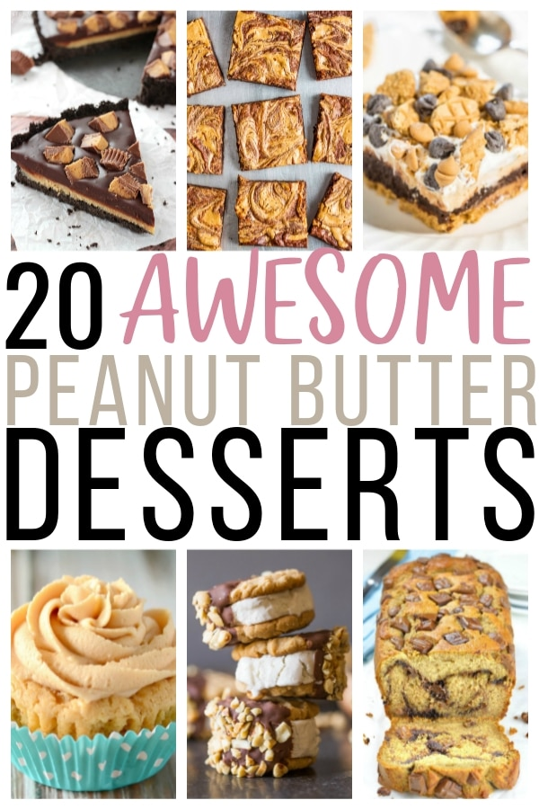 20 awesome peanut butter desserts