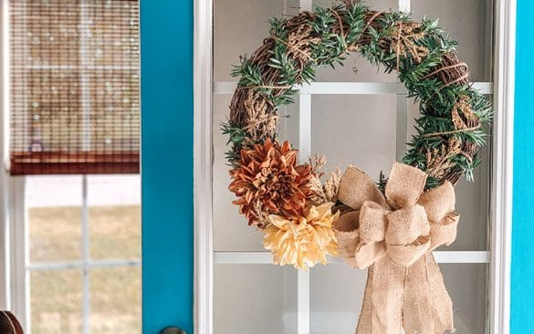 DIY fall twig wreath