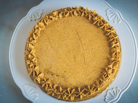 Pumpkin Torte Cake with Pumpkin Ganache