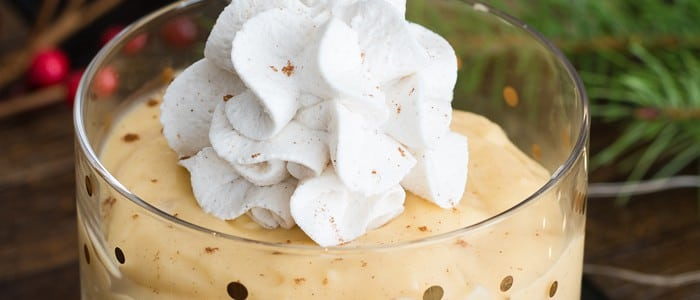 Homemade Eggnog Pudding