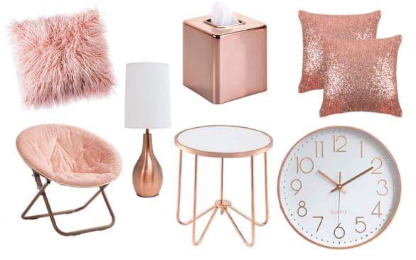 rose gold home decor inspiration