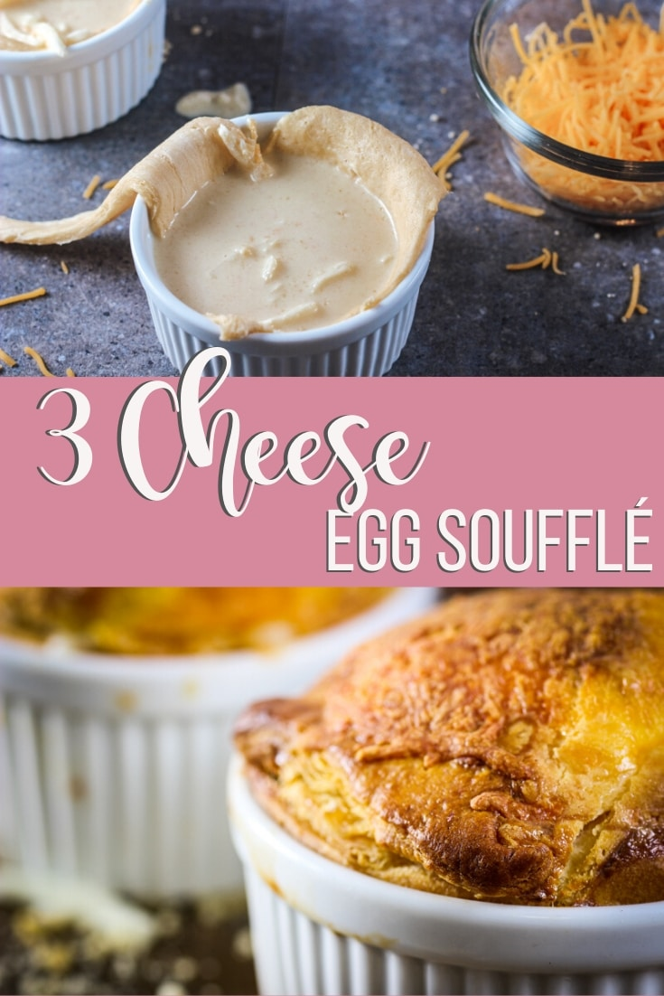 3 cheese egg souffle