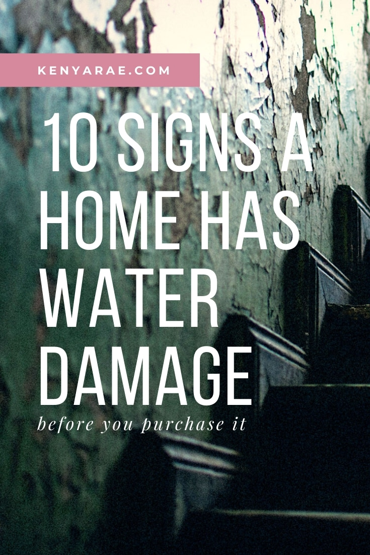 10 signs a home has water damage
