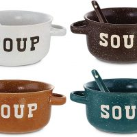 Soup Bowls With Spoons