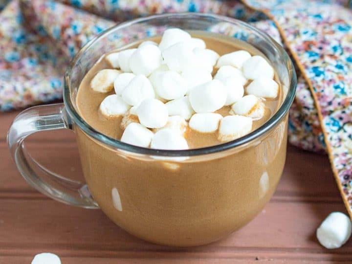 Pumpkin Coconut Hot Chocolate {Vegan Hot Chocolate}