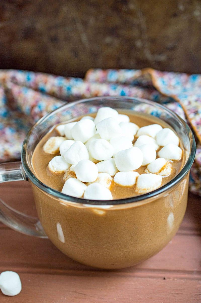 vegan pumpkin coconut hot chocolate