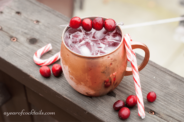 Peppermint Cranberry Moscow Mule